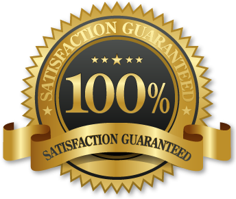 100% satisfaction guarantee graphic