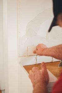 craftsmen retiling kitchen backsplash in Colorado Springs Home